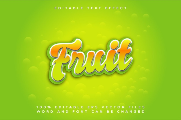 Effet de texte creative fruit