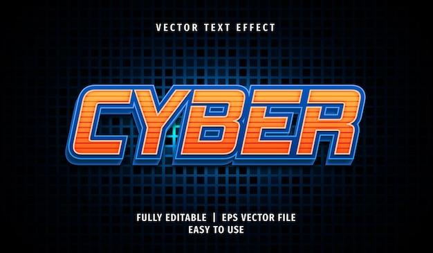Effet de texte cyber 3d, style de texte modifiable