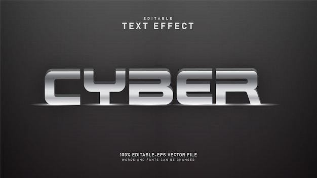 Effet de texte cyber