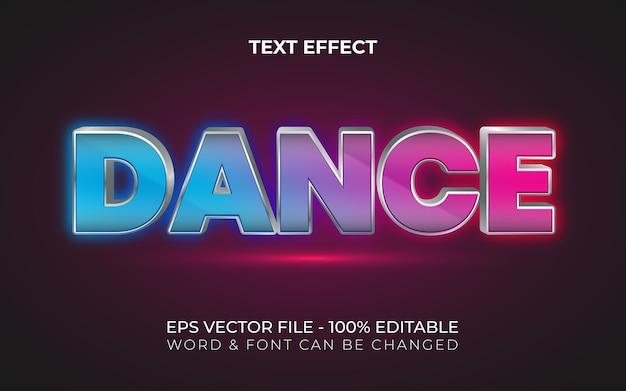 Effet de texte de danse style coloré effet de texte modifiable