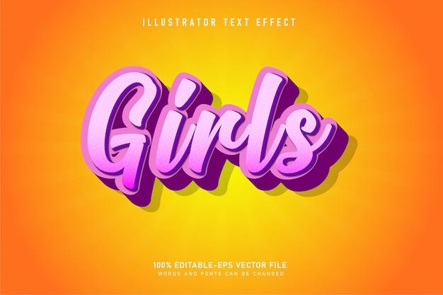 Effet de texte décoratif pour filles