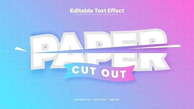 Effet de texte découpé en papier