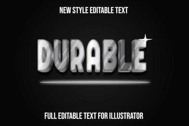 Effet de texte dégradé gris et noir de couleur durable 3d