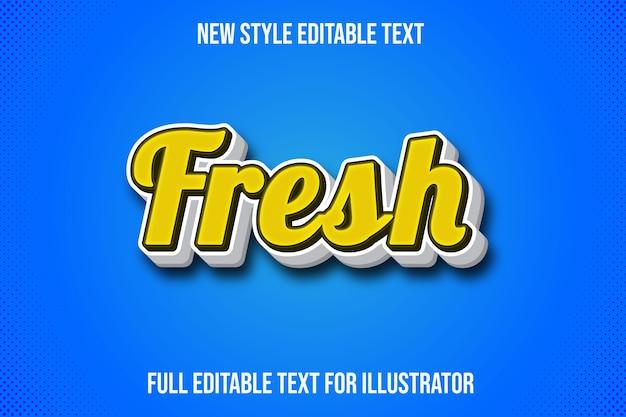 Effet de texte dégradé jaune et blanc de couleur fraîche