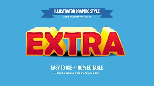 Effet de texte en demi-teintes de bande dessinée extra-gras jaune et rouge moderne