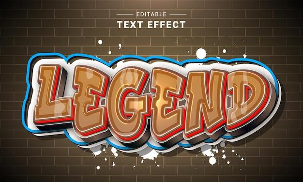 Effet de texte de dessin animé 3d modifiable pour illustrateur