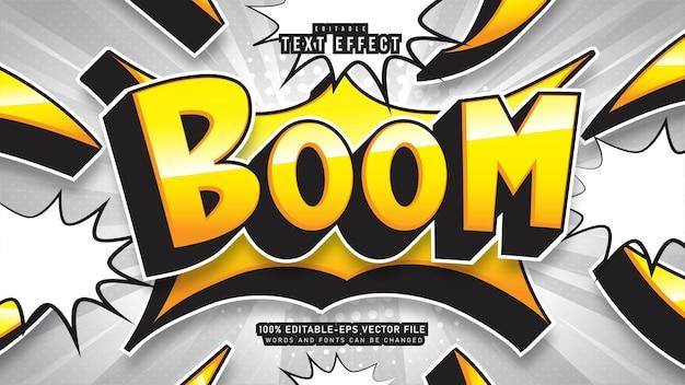 Effet de texte de dessin animé de boom