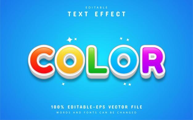 Effet de texte de dessin animé coloré