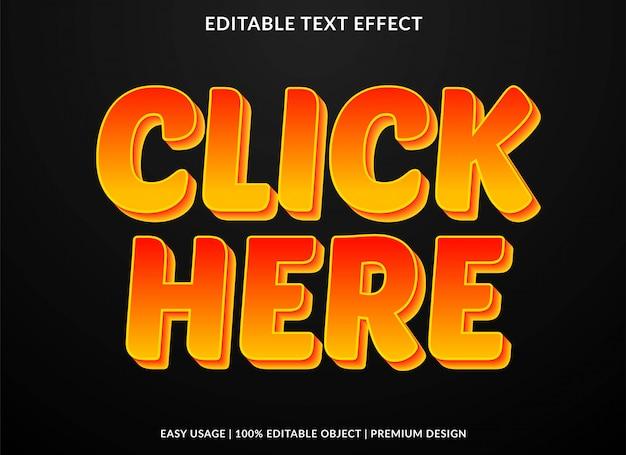 Effet de texte de dessin animé cool