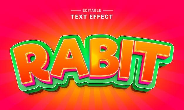 Effet de texte de dessin animé modifiable pour illustrateur