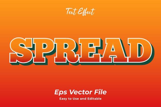 Effet de texte diffusion vecteur premium modifiable et facile à utiliser