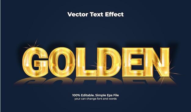 Effet de texte doré élégant glamour
