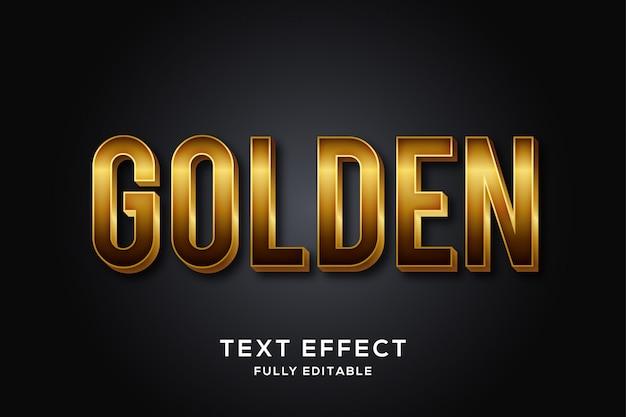Effet de texte doré de luxe