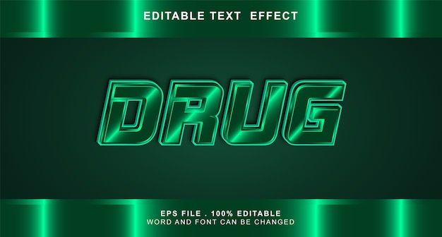 Effet de texte de drogue modifiable