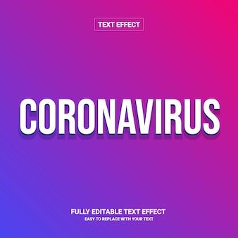 Effet de texte du corovarirus