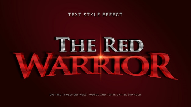 L'effet de texte du guerrier rouge