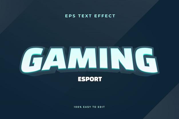 Effet de texte du logo esport de jeu 3d