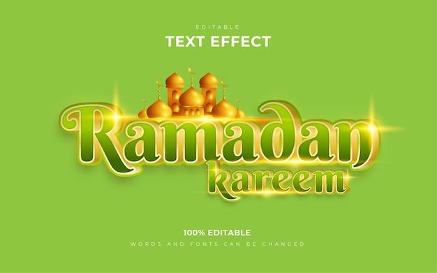 Effet de texte du ramadan kareem