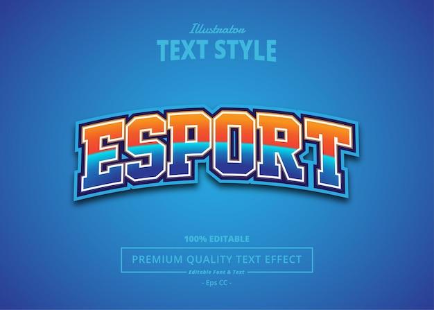 Effet de texte e sport