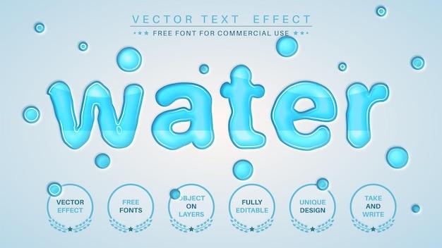 Effet de texte de l'eau