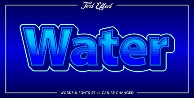 Effet De Texte De L'eau Vecteur Premium