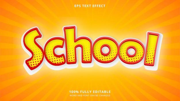 Effet de texte d'école jaune 100 eps modifiable cc