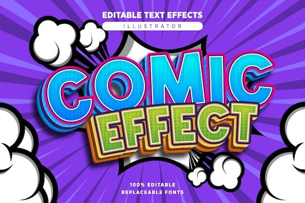 Effet de texte effet comique modifiable dans le style comique