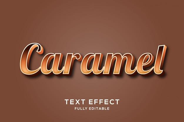 Effet de texte élégant chocolat gras