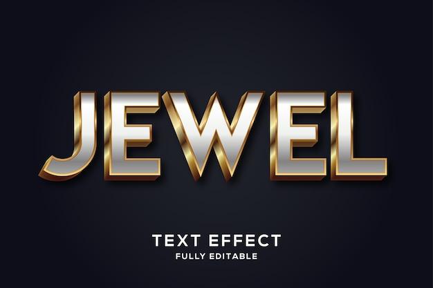 Effet de texte élégant or et argent