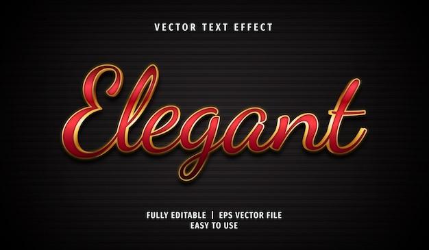 Effet de texte élégant rouge 3d, style de texte modifiable