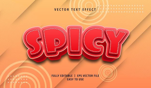 Effet de texte épicé 3d, style de texte modifiable