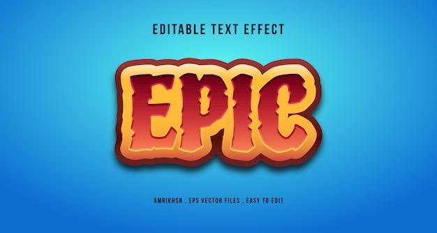 Effet de texte épique 3d