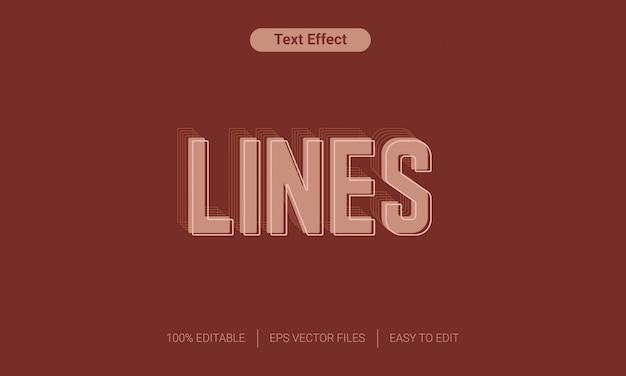 Effet de texte eps doux lignes