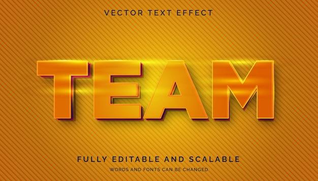 Effet de texte équipe orang avec texte clair ou modifiable