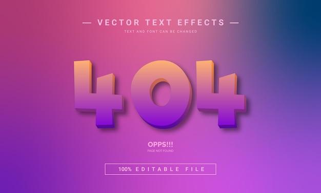Effet de texte d'erreur 404