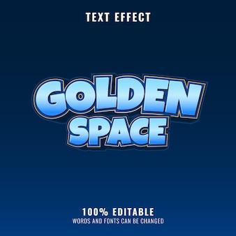 Effet de texte espace doré fantaisie drôle