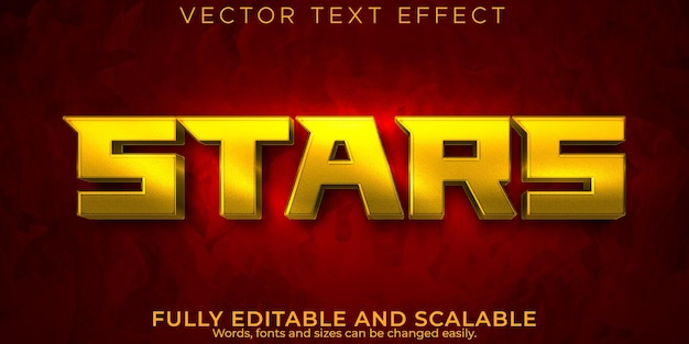 Effet de texte de l'espace étoiles, style de texte modifiable du navire et de la galaxie
