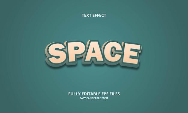 Effet de texte d'espace
