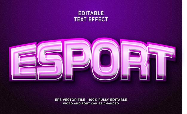 Effet de texte esport créatif
