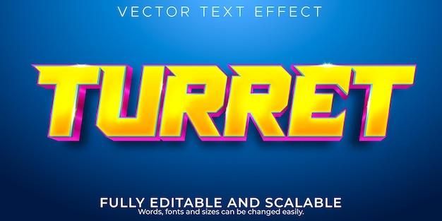 Effet de texte esport, jeu modifiable et style de texte néon
