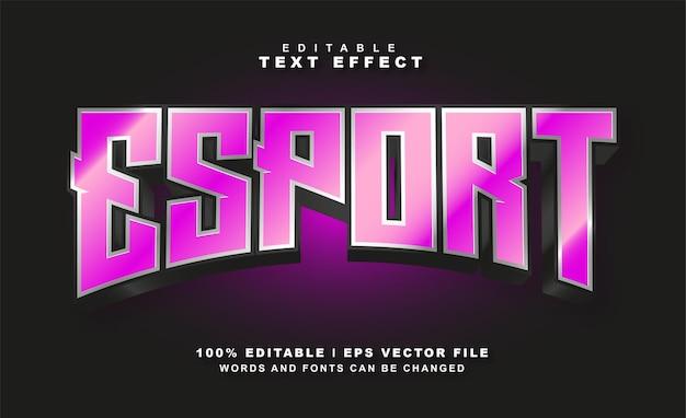 Effet de texte esport vecteur eps gratuit