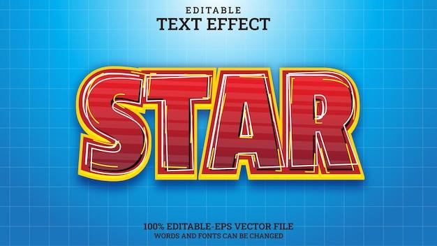 Effet de texte étoile modifiable