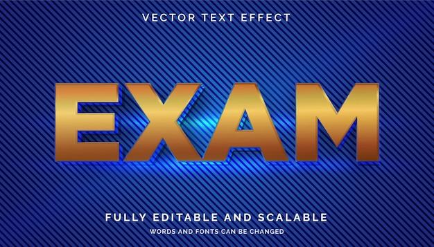 Effet de texte d'examen avec texte clair ou modifiable