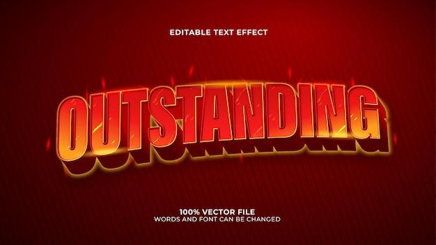 Effet de texte exceptionnel style 3d chaud et flamme