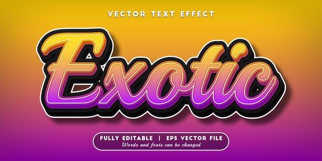Effet de texte exotique, style de texte modifiable