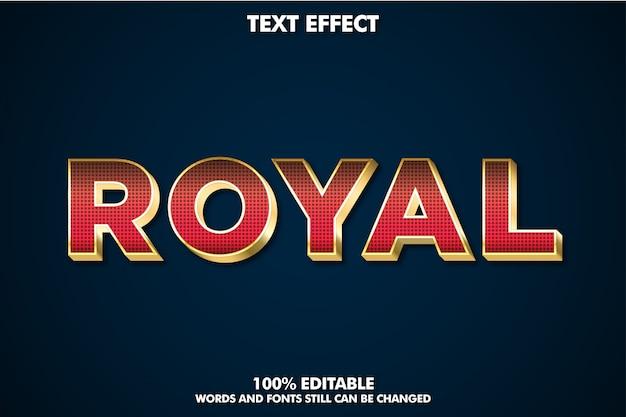 Effet de texte extrudé de luxe rouge et or