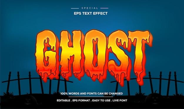 Effet de texte fantôme, style de texte d'horreur et de dessin animé modifiable