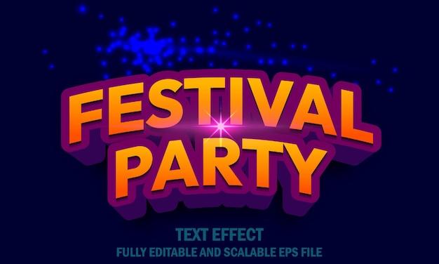 Effet de texte de fête de festival