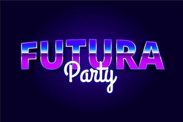 Effet de texte de fête futura
