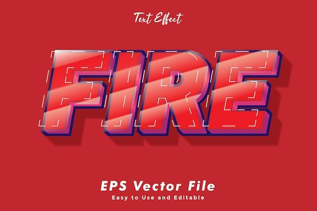 Effet de texte de feu modifiable et effet de typographie facile à utiliser